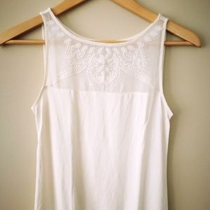 Ann Taylor LOFT tank top with woven detail